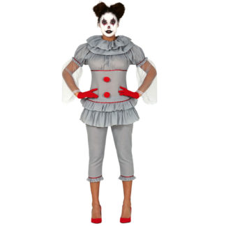 Costume stile IT il Clown Assassino Donna