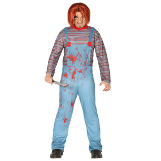 Costume Stile Chucky Bambolotto Assassino