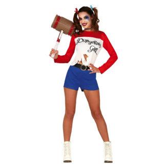 Costume stile Harley Quinn