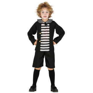Costume stile Pugsley Addams Bimbo