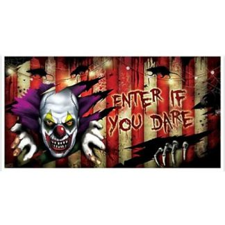 Banner clown horror pvc cm.165x85