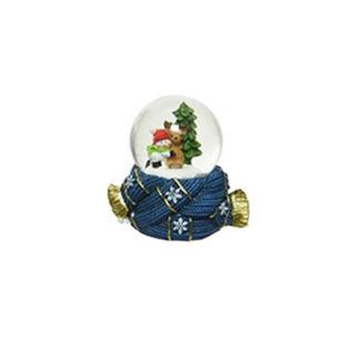 Palla con neve Natalizia Blu cm. 7