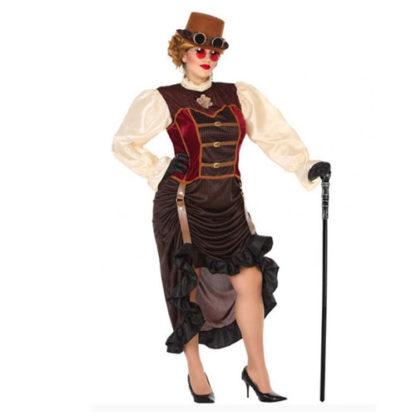 Costume donna stile steampunk tg. 48/50