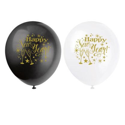 Palloncini Happy New Year conf 8 pezzi