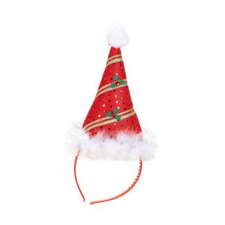 Cerchietto Babbo di Natale con Marabù
