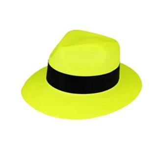 Cappello Gangster neon Giallo