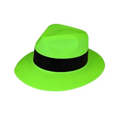 Cappello Gangster neon Verde