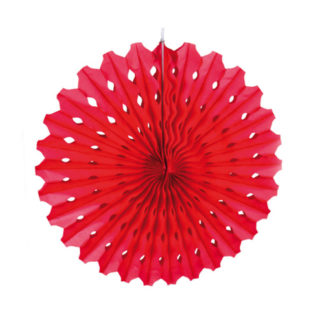 Rosone in carta rosso cm 45