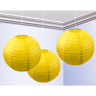 Globo Lanterna Giallo Cm 25 Conf. 3 Pz.