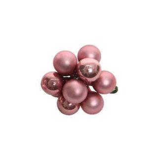 Bacche in vetro velvet pink mm. 20 pezzi 10