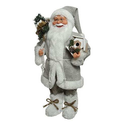 Babbo Natale 60 Cm.Babbo Natale Grigio Con Doni Cm 60 Baraldi Cotillons
