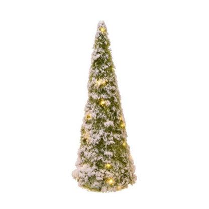 Alberino di Natale innevato con led cm 40