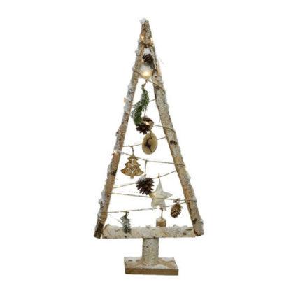 Alberino in legno con led e decori cm 67