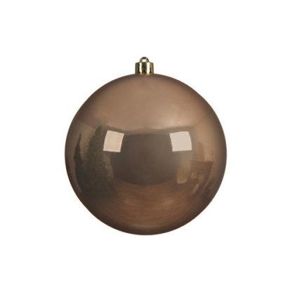 Palla di Natale mm 140 Camel Brown