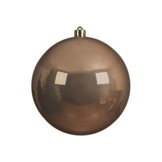 Palla di Natale mm 200 Camel Brown