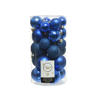 Box 30 Palline di Natale Royal Blue
