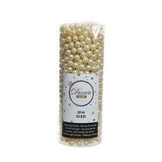Tubo perline natalizie bianco lana mt 10