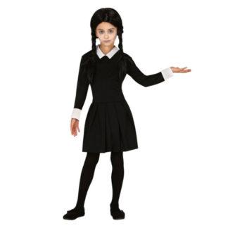 Costume stile Mercoledì Addams Bimba