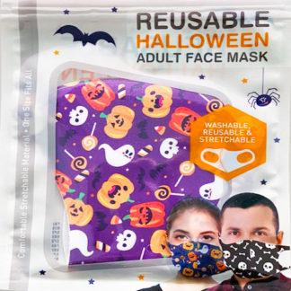 Mascherina protettiva Halloween viola