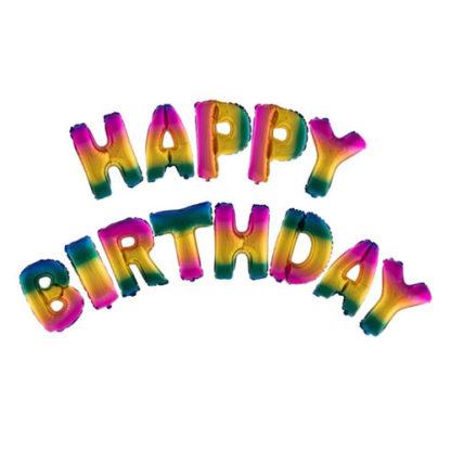 Palloncini Happy Birthday set lettere cm. 41
