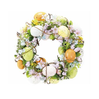 Ghirlanda Pasquale con uova colorate cm. 25