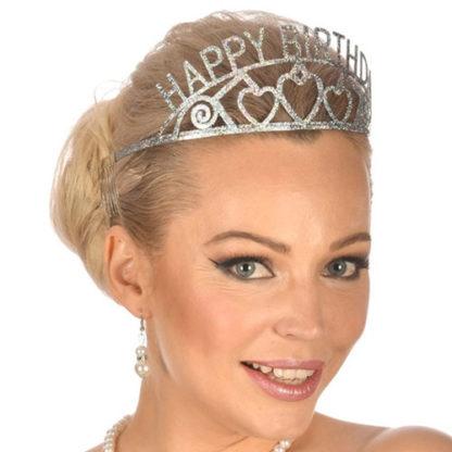 Coroncina Happy Birthday glitterata