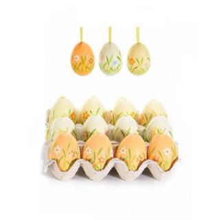 Uova di Pasqua Decorate 12 pezzi cm. 6