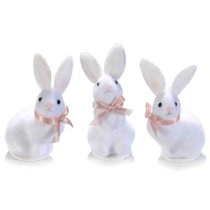 Coniglietto Pasquale bianco Cm. 10,5