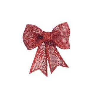 Fiocco di Natale Glitter Rosso cm. 13