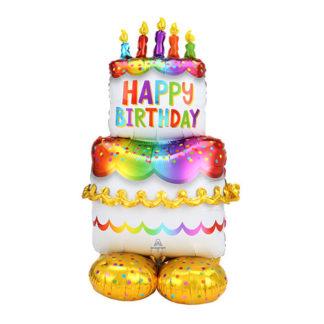 Pallone Foil Birthday Cake cm. 134
