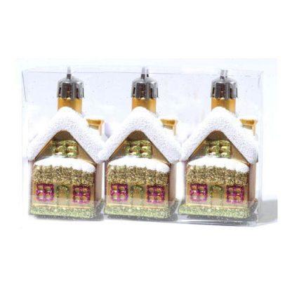 Casette glitterate oro set 3 pezzi cm 7