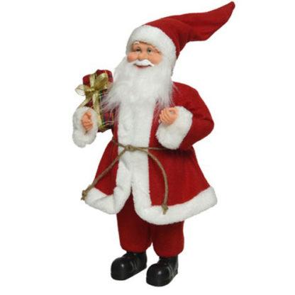 Babbo Natale bianco e rosso con Dono cm. 60
