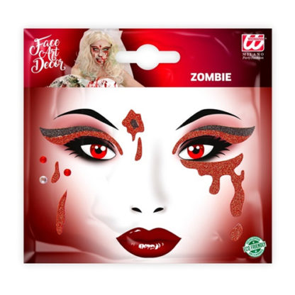 Set Make up tattoo sangue glitter