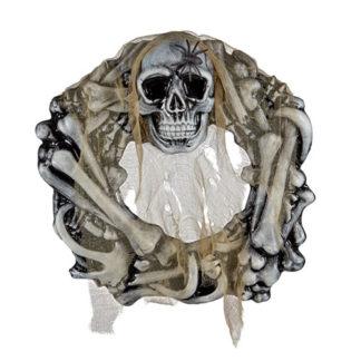 Corona ossa e teschio con ragno cm. 50