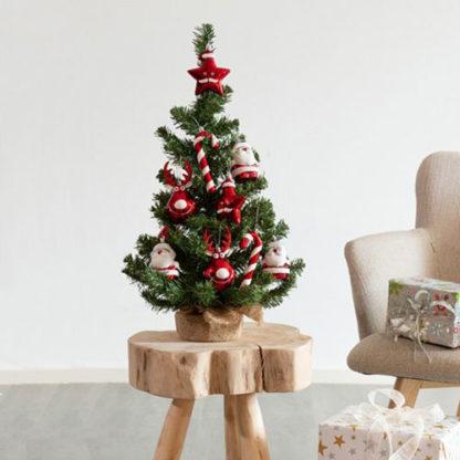 Alberino di Natale in pino decorato cm 60