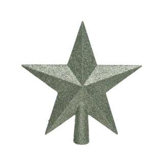 Puntale stella glitterata Sage Green cm. 19