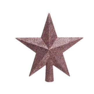 Puntale stella glitterata Blush Pink cm. 19