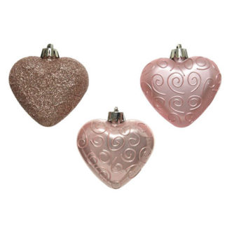 Cuori Blush Pink Set 6 pezzi cm. 6