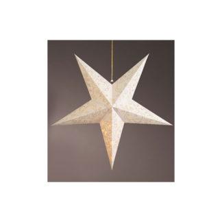 Stella Natalizia Bianca con luci led cm. 60