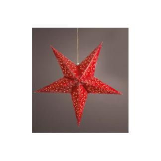 Stella Natalizia Rossa con luci led cm. 60