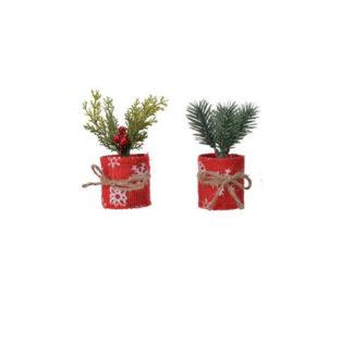 Alberino con vaso rosso cm. 13