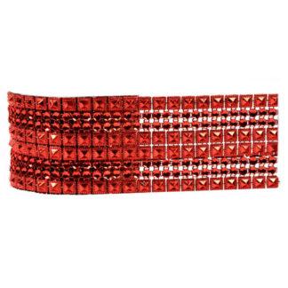 Nastro strass Rosso maxi mt. 2