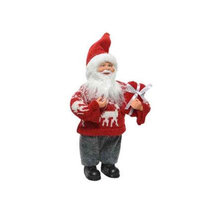 Babbo Natale rosso con pacco regalo cm. 30