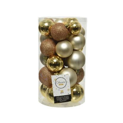 Box 30 Palline di Natale Classic Gold