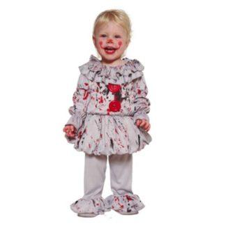 Costume stile IT bad clown Baby 18/24 Mesi