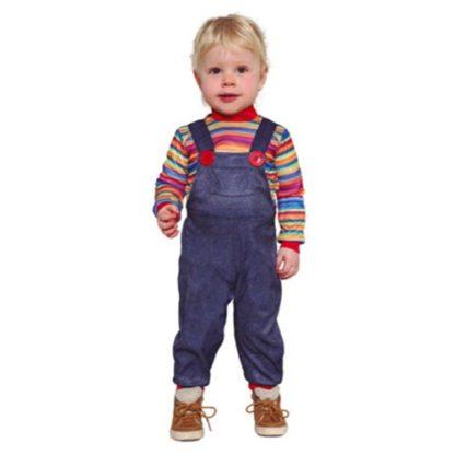 Costume Stile Bambolotto Chucky Baby 18/24 Mesi